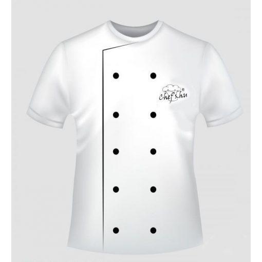 Chefs.hu reklámpóló -FEHÉR színben