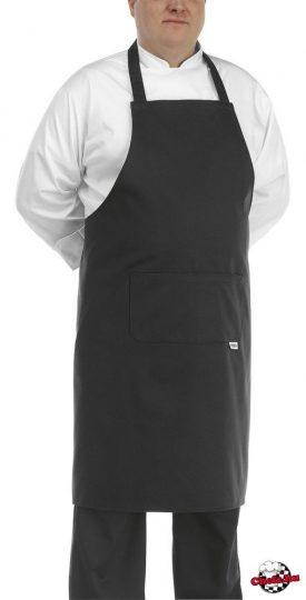 Szakácskötény - fekete, nagy méretű