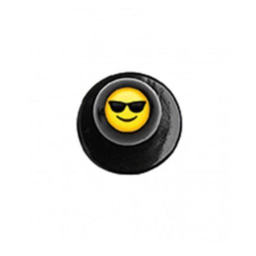 Szakácskabát gomb napszemüveges Smile figurával