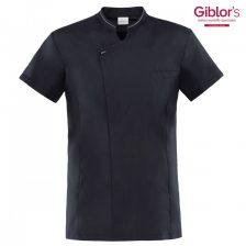 Giblor's szakácskabát - fekete, rövid ujjú, ICE COOL
