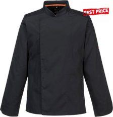 MashAir Pro, fekete, hosszú ujjú szakács kabát