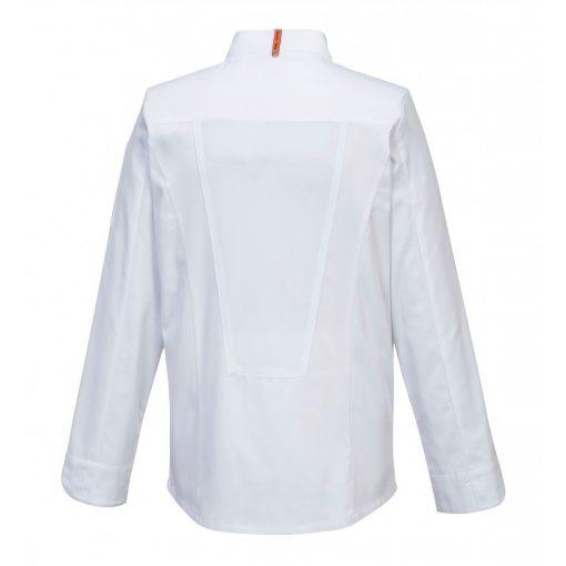 MashAir Pro, fehér, hosszú ujjú szakács kabát Szakács munk