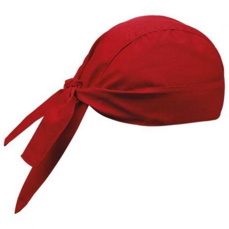 Fejkendő - piros színben