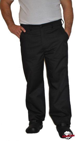 Szakácsnadrág fekete gombos cipzáras